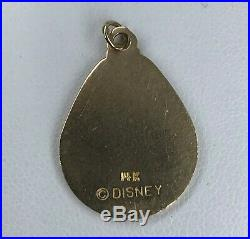 14K SOLID Yellow Gold Walt DISNEY World Mickey Mouse Pendant Charm