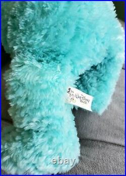 17 Pre Duffy Hidden Mickey Bear Mint Green Aqua Teal Plush Walt Disney World