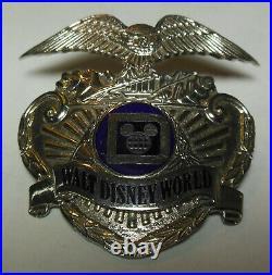 1980s Walt Disney World Police Officer Cast Uniform Hat Badge HM SUN BADGE Co