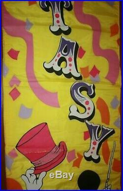 1988 Walt Disney World Disneyland Circus Fantasy Sign Banner Pageantry World 12