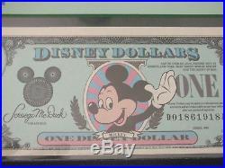 1990 $1 Mickey DISNEY CASTLE BACK WALT DISNEY WORLD
