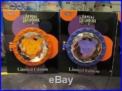 2017 Walt Disney World Passholder Jewel 4 Pin Set/Collection Orange Bird Figment
