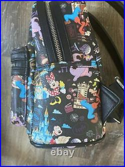 2018 Disney World Annual Passholder AP Exclusive Loungefly Mini Backpack castle