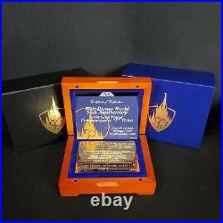 2021 Walt Disney World 50th Anniversary 24kt Gold Plated Magic Kingdom E Ticket