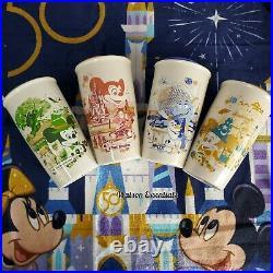 4 Park Starbucks Tumbler Set Walt Disney World 50th Anniversary Mickey EPCOT