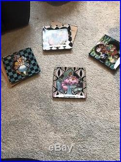 Alice In Wonderland Tea Plates Set Walt Disney World Exclusive Extremely Rare