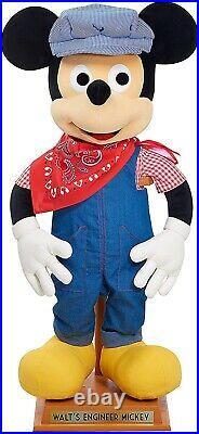 Amazon Exclusive Walt's Engineer Mickey Plush Disney Disneyland Disney world