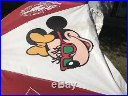 Coca Cola WALT DISNEY WORLD 15th Anniversary Patio Umbrella Mickey Mouse Coke 9