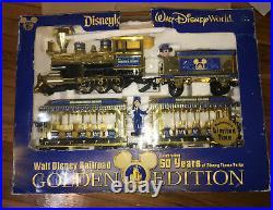 DISNEYLAND WALT DISNEY WORLD RAILROAD GOLDEN EDITION 50TH ANNIVERSARY Train