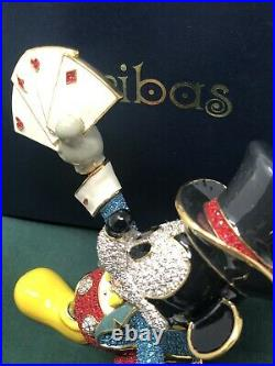 Disney Arribas Brothers Crystals Swarovski Figurine Magic Magician Mickey Mouse