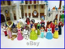 Disney Castle Princess Dolls Figures Lot Walt Disneyland World Playset Dollhouse