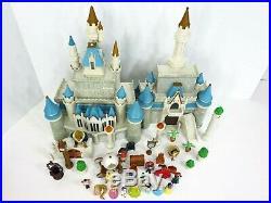 Disney Cinderella Castle Walt Disneyland World Playset Figures Figurine Lot