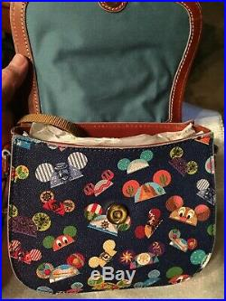 Disney Dooney And Bourke Walt Disney World Attractions Ear Hat Crossbody Bag