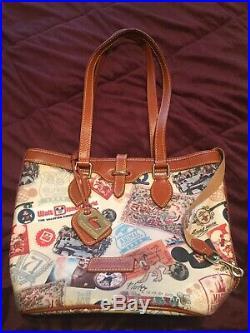 Disney Dooney & Bourke Walt Disney World 40th Anniversary Bucket Bag Retired HTF
