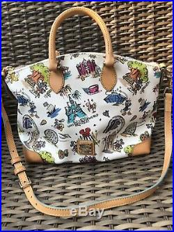 Disney Dooney & Bourke Walt Disney World Disneyana Sketch Bag Large Satchel RARE