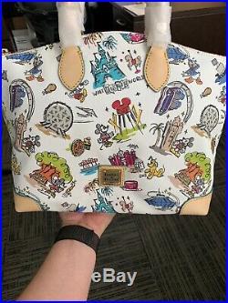 Disney Dooney & Bourke Walt Disney World Disneyanna Sketch Bag Large Satchel