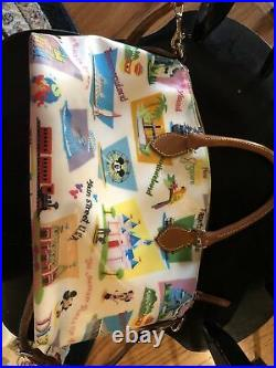 Disney Dooney & Bourke Walt Disney World Retro Satchel Purse Bag Crossbody
