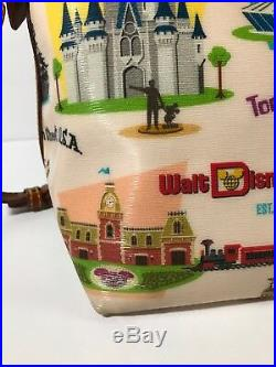 Disney Dooney & Bourke Walt Disney World Retro Satchel bag Castle Purse Epcot Ak