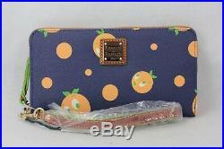 Disney Dooney Bourke Walt World WDW Orange Bird Wristlet Wallet C