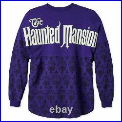Disney Haunted Mansion Glow In The Dark Spirit Jersey Shirt Sz Small NEW RARE