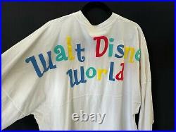 Disney Its a Small World Spirit Jersey Walt Disney World White Colorful XL
