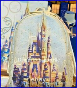 Disney Parks 50th Anniversary Cinderella Castle Loungefly Backpack