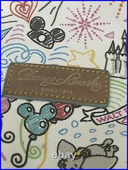 Disney Parks Dooney & Bourke Sketch Disneyland Walt Disney World Tote Bag Purse