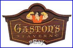 Disney Parks Gaston's Tavern Wooden Sign Walt Disney World Exclusive New in Box