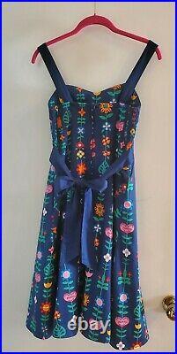 Disney Parks Walt Disney Dress Shop Original It's A Small World Dress Sz SMALL