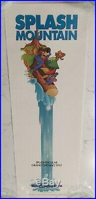 Disney Splash Mountain Commemorative Poster LE 1992 GOOD Condition