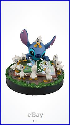Disney Stitch With Ducklings Figurine New In Box Walt Disney World
