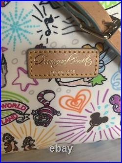 Dooney & Bourke Disney Sketch Nylon Crossbody Bag Purse RARE Walt Disney World
