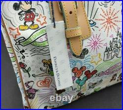 Dooney & Bourke Walt Disney World Disneyland Parks Sketch Tote New With Tags