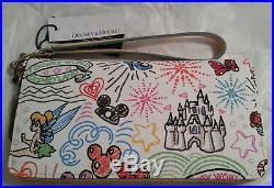 Dooney & Bourke Walt Disney World Disneyland Wallet Style Ew126s, Color White