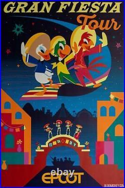 EPCOT Gran Fiesta Tour Poster LE 300 Walt Disney World Home Decor Art Print