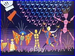 EPCOT SERIGRAPH 2000 Millennium Celebration POSTER LE 300 Walt Disney World