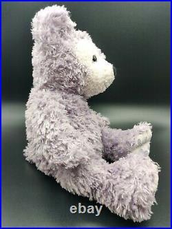 Hidden MICKEY Pre Duffy Lavender Purple Plush Stuffed Bear Walt Disney World 17
