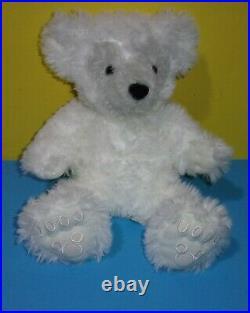 Hidden MICKEY Pre Duffy White Gray Face Plush Stuffed Bear Walt Disney World