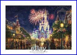 Kinkade Main Street USA Walt Disney World Resort 18x27 S/N Limited Ed. Paper
