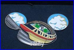 LE RARE JUMBO Walt Disney World PinMonorail Celebrating 50 Years Ear Hat WDW LE