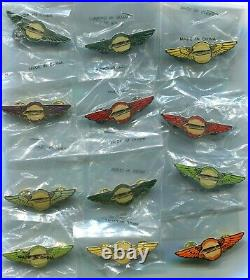 Lot of 12 Walt Disney World Monorail Copilot Wing Pins 40th Ann June 14, 1999