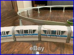 Lot of 2 Walt Disney World Monorail Train Set Green Stripe & Blue Stripe