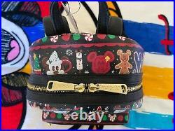 Loungefly Christmas Snacks Mickey Backpack WDW Disney Parks BNWT