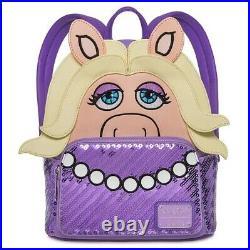 Loungefly Walt Disney World Parks Miss Piggy Muppets Mini Backpack Bag Cosplay