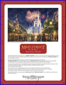 Main Street U. S. A. Walt Disney World Resort Thomas Kinkade GP 690 18x27 Canvas