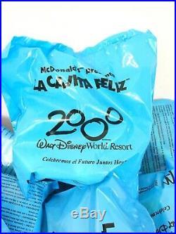 McDonald's 2000 Walt Disney World Resort Toy Extremely Rare La Cajita Feliz Set