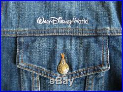 Men's Walt Disney World FANTASIA Mickey Mouse Denim Jacket sz XL disneyland vtg