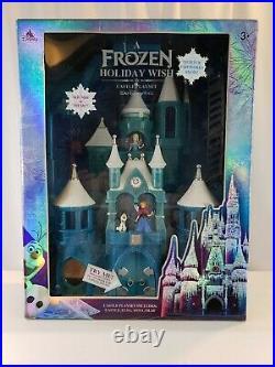 NIB Frozen Holiday Wish Walt Disney World Castle Play Toy Set Elsa Anna Olaf