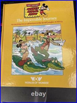 NIB Worlds of Wonder,'The TALKING MICKEY MOUSE' Show Walt DISNEY Book Tape 17