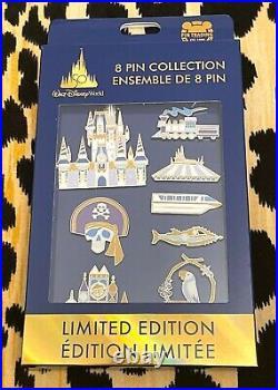 New 2021 Walt Disney World 50th Anniversary 8 Pin Collection Box Set LE 1500